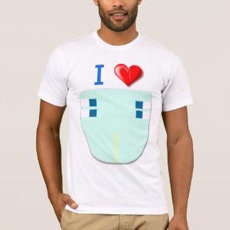 J'aime des couches-culottes/couches-culottes les 4 t-shirt