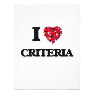 J'aime des critères prospectus 21,6 cm x 24,94 cm