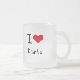 J'aime des dards tasse à café