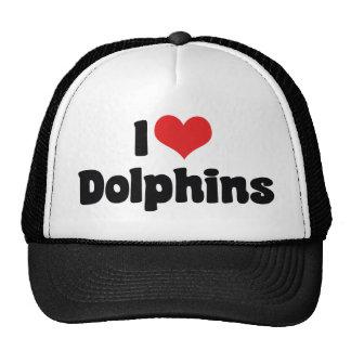 J'aime des dauphins de coeur - amant de dauphin casquettes