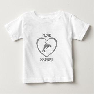 J'aime des dauphins t-shirt pour bébé