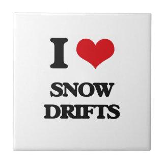J'aime des dérives de neige carreau en céramique