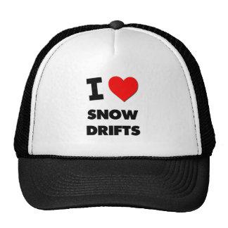 J'aime des dérives de neige casquette de camionneur
