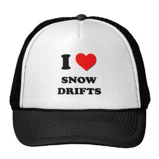 J'aime des dérives de neige casquettes de camionneur