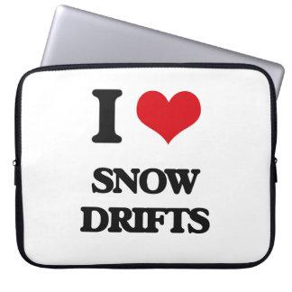 J'aime des dérives de neige housse pour ordinateur portable