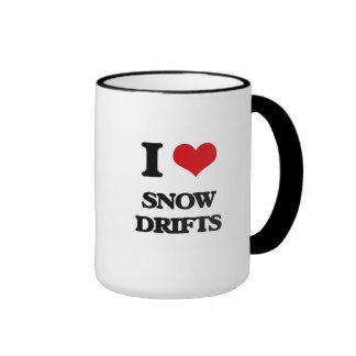 J'aime des dérives de neige mug ringer