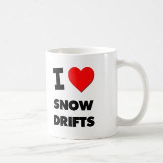 J'aime des dérives de neige mug