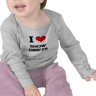 J'aime des dérives de neige t-shirts