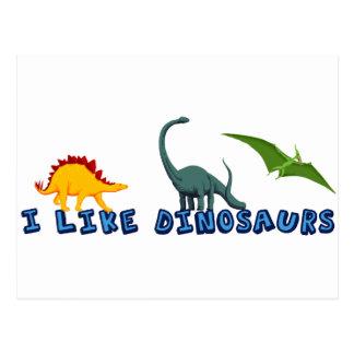 J'aime des dinosaures cartes postales