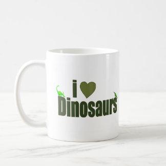J'aime des dinosaures mug blanc