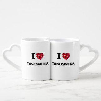 J'aime des dinosaures set mugs duo