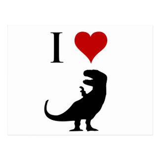 J'aime des dinosaures - T-Rex Carte Postale