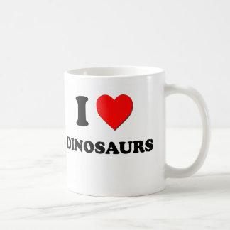 J'aime des dinosaures tasse à café