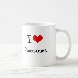J'aime des dinosaures tasses