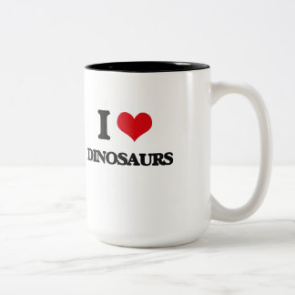 J'aime des dinosaures mug bicolore