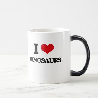 J'aime des dinosaures mug magique