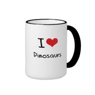 J'aime des dinosaures tasses à café