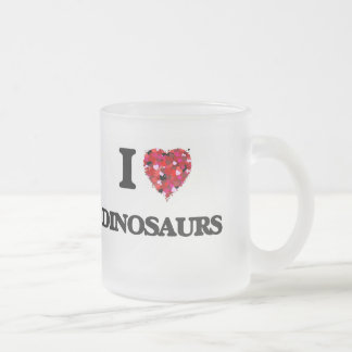 J'aime des dinosaures mug en verre givré