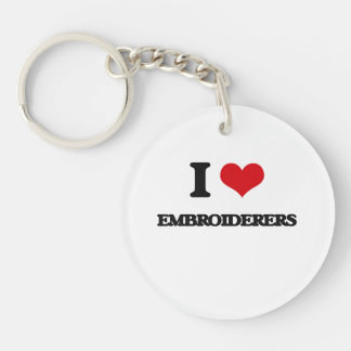 J'aime des Embroiderers Porte-clés