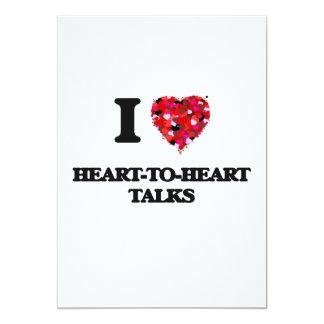 J'aime des entretiens à coeur ouvert carton d'invitation  12,7 cm x 17,78 cm