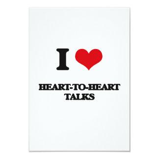 J'aime des entretiens à coeur ouvert carton d'invitation 8,89 cm x 12,70 cm