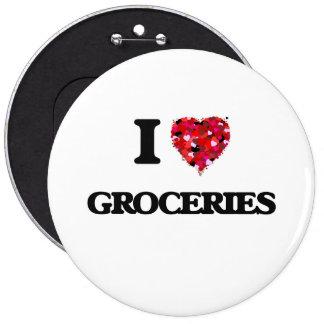 J'aime des épiceries badge rond 15,2 cm
