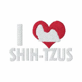 J'aime des femmes de Shih Tzus embroidered shirts
