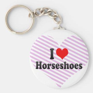 J'aime des fers à cheval porte-clé