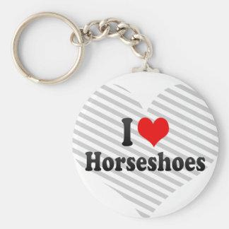J'aime des fers à cheval porte-clef