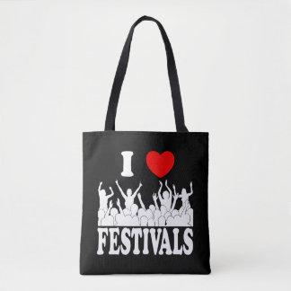J'aime des festivals (blancs) tote bag