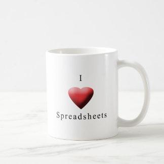 J'aime des feuilles de calcul mug
