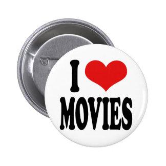 J'aime des films badge rond 5 cm