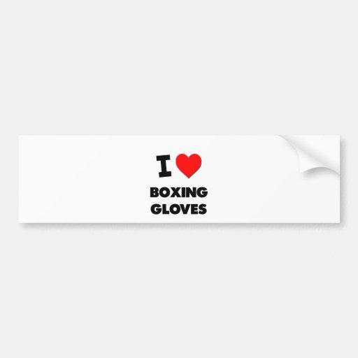 J'aime des gants de boxe autocollant pour voiture