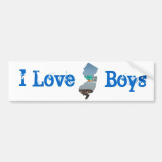 J'aime des garçons de jersey autocollant de voiture
