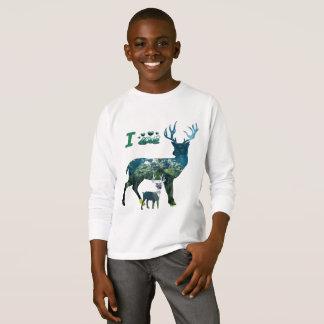 J'aime des garçons de T-shirt de renne