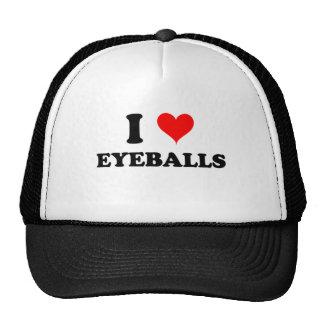 J'aime des globes oculaires casquettes de camionneur