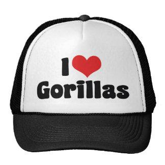J'aime des gorilles de coeur - amant de gorille casquettes