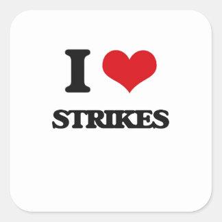 J'aime des grèves sticker carré