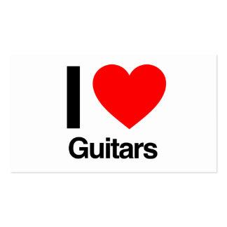 j'aime des guitares carte de visite standard