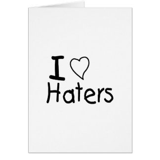 J'aime des haineux cartes