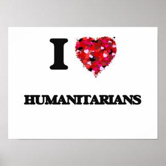J'aime des humanitaires poster