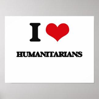 J'aime des humanitaires posters