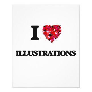 J'aime des illustrations prospectus 11,4 cm x 14,2 cm