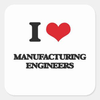 J'aime des ingénieurs de fabrication autocollant carré