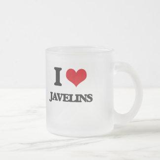 J'aime des javelots mug en verre givré