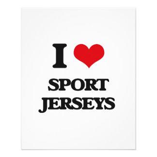 J'aime des Jerseys de sport Prospectus Personnalisés