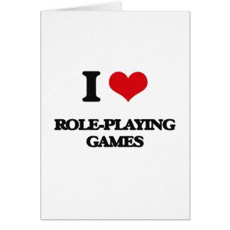 J'aime des jeux de rôles carte de vœux