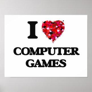 J'aime des jeux d'ordinateur posters