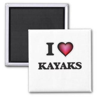 J'aime des kayaks magnet carré