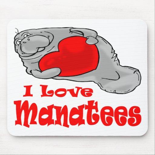 J'aime des lamantins tapis de souris